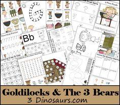 Download this free Goldilocks & The Three Bears Printable Pack.