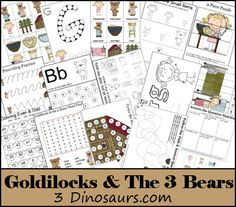 Download this free Goldilocks & The Three Bears Printable Pack.