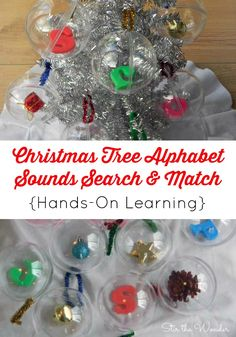 Christmas Tree Alphabet Sounds Search & Match (a hands-on way to learn alphabet identification)   Stir the Wonder
