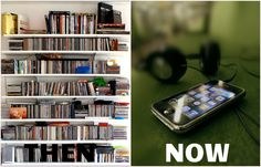 Music collections: Then & Now