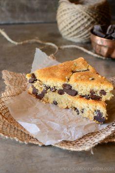 Paleo Crumbs: Chocolate Chip Snack Bars #glutenfree #paleo
