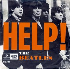 """The Beatles - """"Help"""" picture sleeve - Sweden - 1965."""