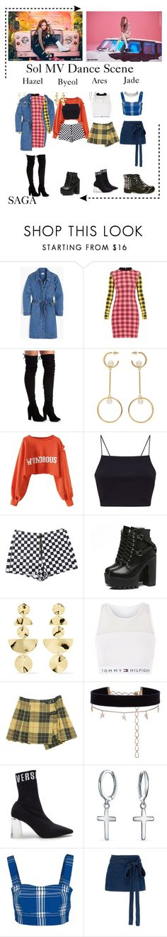 """""""SAGA   Debut 'Sol' MV"""" by saga-official ❤ liked on Polyvore featuring J.Crew, Chloé, WithChic, Ippolita, Topshop, Bonpoint, Diane Kordas, Versus, Bling Jewelry and Wood Wood"""