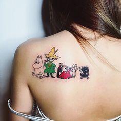 Tattoo Dope Tattoos, Mini Tattoos, Tatoos, Moomin Tattoo, Little My Moomin, Handpoke Tattoo, Future Tattoos, Tattoo You, Tattoo Inspiration