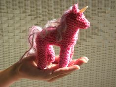 Pink Pixicorn at: www.KnitaUnicorn.com