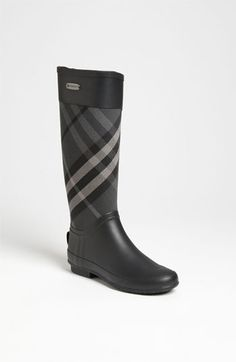 Burberry 'Clemence' Rain Boot (Women) Black and or Classic. *You only need ONE pair of rain boots. Women's Shoes, Me Too Shoes, Shoe Boots, Shoe Bag, Hot Shoes, Ankle Boots, Burberry Rain Boots, Burberry Plaid, Burberry Shop