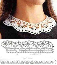 Crochet lace collar More