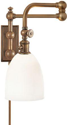 Brass Swing Arm Wall Lamp Intriguing Interiors