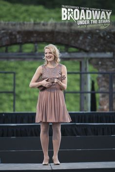 Leah Sprecher performs an original song that included a Sonoma resident's compiled poetry at Transcendence Theatre Company's Broadway Under The Stars in Jack London State Park - Sonoma, Napa, Wine Country http://www.transcendencetheatre.org/ Photo By Ray Mabry
