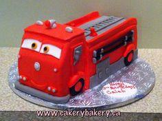 Fire truck birthday cake.