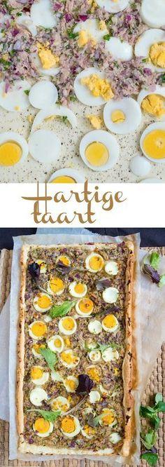 Hartige taart voor Pasen met tonijn en gekookte eieren - Hartige hapjes - Flan, Quiche, Hamburger Pizza, Easter Brunch, Tapas, Menu, Cheese, Snacks, Baking