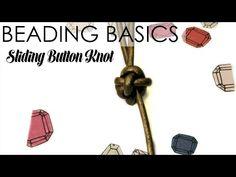 Beading Basics: Sliding Button Knot | Alonso Sobrino Hnos. Co. & Inc. Druzy Beads and Fabrics