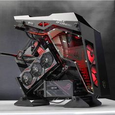 What a stunning build by Gaming Computer Setup, Best Gaming Setup, Gaming Pc Build, Gaming Room Setup, Gaming Pcs, Computer Build, Pc Setup, Computer Case, Pc Gamer