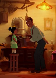 Tiana & her Dad - The Princess and the Frog (2009)