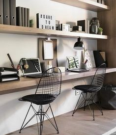 Want to have a comfortable home office to improve your productivity? Yaa, home office is a very important room. Here are some inspirations Home office design ideas from us. Hope you are inspired and enjoy . Home Office Space, Home Office Design, Home Office Decor, Office Furniture, House Design, Office Workspace, Office Designs, Office Nook, Office Spaces