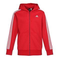 adidas Sweat Shirt à Capuche Homme Rouge Rot: