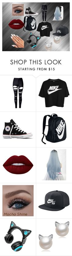 """""""BE FREE"""" by alopez1 on Polyvore featuring beauty, WithChic, NIKE, Converse, Lime Crime and Brookstone"""