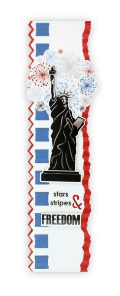 Cheerful Stars & Stripes Picket Fence Border Maker Scrapbook Border