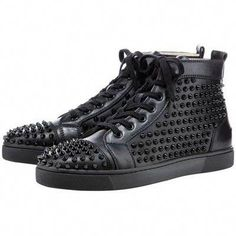 1f675e97f3cd Christian Louboutin Louis Studded Hi-Top Womens Sneakers Leopard ...