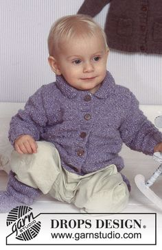 DROPS Baby 11-13 - Jacket and socks in Karisma. - Free pattern by DROPS Design