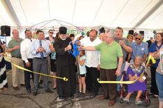 The Chamber marked start of the Greek Fest at Kimisis Greek Orthodox Church in Poughkeepsie with a ribbon cutting.
