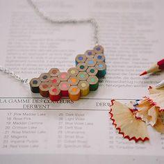 Artist Colour Palette Pencil Necklace