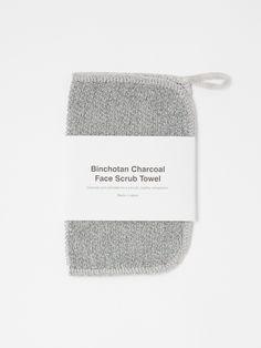 Binchotan Charcoal Face Scrub Towel #ExfoliatingFaceScrub Exfoliating Face Scrub, Exfoliate Face, Charcoal Face Scrub, Plant Fibres, Anti Aging Facial, Homemade Facials, Homemade Face Masks, Face Care, Amigurumi