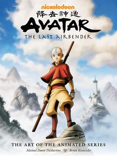 The cover art from Avatar: The Last Airbender: The Art of the Animated Series. This picture features Aang in front of the Southern Air Temple. I love that this art book covers all three seasons. Dark Horse Comics, The Last Airbender, Animation Art, Dark Horse, Animation, Animation Series, Graphic Novel, Cartoon, Book Art