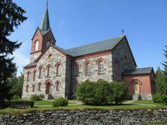 Juva church is built of granite, long church (1863) Juva, Finland