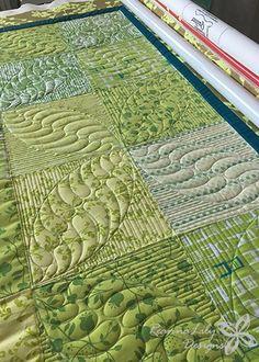 Green Patchwork Baby Quilt   Jen Eskridge   ReannaLily Designs   ReannaLily Quilts