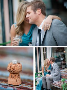 Dressy and glamorous engagement pictures. Photographs courtesy of Gina Cristine Photography.