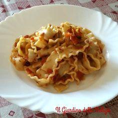 Reginette+con+pesto+alla+Trapanese