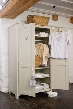 The Shaker Upright Cupboard by deVOL makes a beautiful wardrobe or cupboard for any room of the house