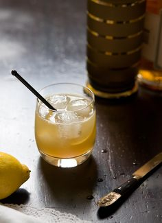 Perfect inspiration for our 'Honey Sin' cocktail with suggested ingredients: 1 1/2 oz. Hendricks Gin / 1 oz. Honey Syrup / 3/4 oz. lemon juice / Topped-up with Aspall Draught Cider.