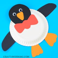 Paper Plate Penguin Craft
