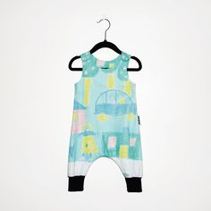 MINIBOM Romper. Recycled and organic cotton. Handmade.