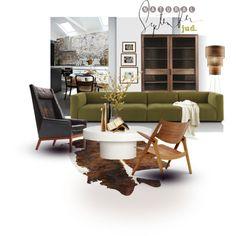 September...again... by judaya on Polyvore featuring interior, interiors, interior design, дом, home decor, interior decorating, Riva 1920, Carl Hansen & Sons, CB2 and HIDE