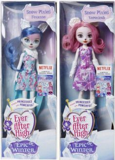 Ever After High 2016 Epic Winter Forest Pixies, Foxanne and Veronicub! Credit to: Ever After High Dolls on Facebook