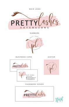 Lash Logo Design - Eyelash Logo - Makeup Artist Logo - Lash Extension Logo - Lash Artist Logo - Lash Branding Kit - Stash Digital Studio - Logo and Branding - Eyelash Brands, Eyelash Logo, Eyelash Kit, Logo Makeup, Tattoo Makeup, Colores Hex, Dog Logo Design, Graphic Design, Dance Logo