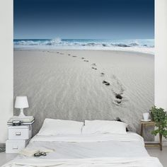 29,95 € Vliestapete - Spuren im Sand - Fototapete Quadrat