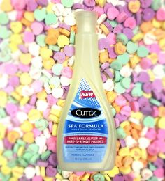 Get ready for #ValentinesDay by treating yourself to a #manicure, complete with #Cutex SPA Formula Nail Polish Remover. It's perfect for #glitter polishes and won't leave #nails feeling dry.