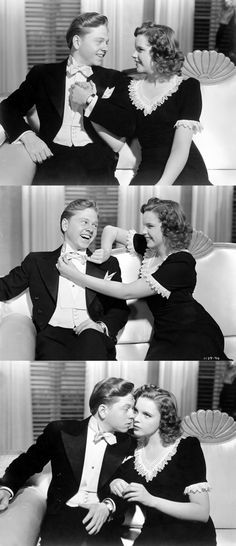 Mickey Rooney and Judy Garland in Andy Hardy Meets Debutante (1946)