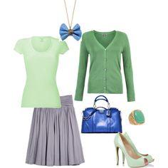 """Light Spring - green-blau inspiration"" by adriana-cizikova on Polyvore"