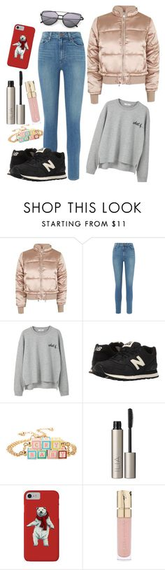 """""""Untitled #226"""" by polyvorepolina ❤ liked on Polyvore featuring Topshop, Paige Denim, MANGO, New Balance Classics, Ilia and Smith & Cult"""