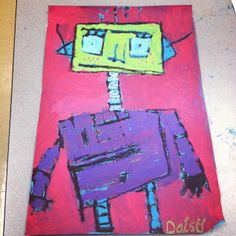 "Mr. Roboto art.....could play ""Mr. Roboto"" at the beginning of project, ha."