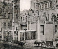 Danzig, Beautiful Buildings, Historical Photos, Poland, Street View, Black And White, City, Painting, Historia