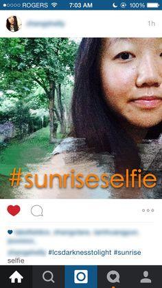 #LCSDarknesstoLight #SunriseSelfie