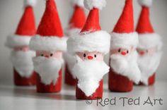 DIY Cork Santa