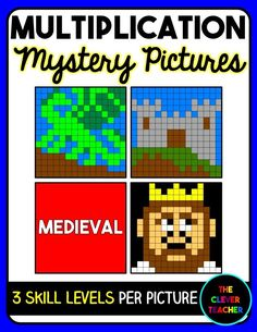 Differentiated Multiplication Mystery Pictures. This medieval picture pack is a FUN way for students to build math fact fluency. They love watching the picture appear before their eyes! Each of the three pictures comes with an easy, medium, and challenging level to differentiate for all your students!