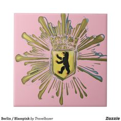 Shop Berlin/pale-pink Ceramic Tile created by Travelboxer. Berlin, Keepsake Boxes, Office Gifts, Pale Pink, White Ceramics, Create Your Own, Tiles, Pictures, Berlin Germany